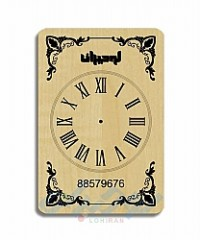 ساعت های دیواری تبلیغاتی چوبی C101