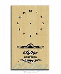 ساعت های دیواری تبلیغاتی چوبی C111