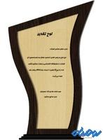 لوح تقدیر چوبی مدل W30